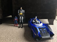 Batman figures and car Port Coquitlam, V3B 5X1