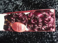 100% remy human hair extensions curly burgundy mix Columbus