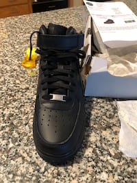 Black Nike Men's Air Force Trainers. Paid $203.00