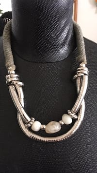 silver-colored necklace with pendant Stamford, 06902