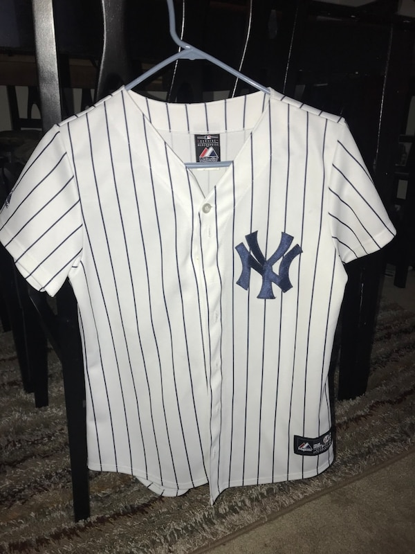 quality design 4ac05 21cd3 white and black New York Yankees jersey