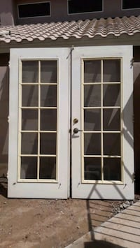 check out 1595c 30eee Used French Doors with double pane glass for sale in Phoenix - letgo