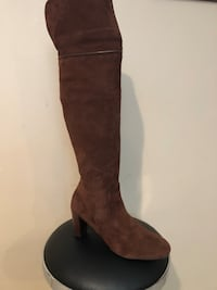 Over the knee boots - brown suede size 11