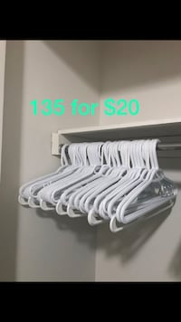 white and gray plastic clothes hangers Halifax, B3M 1C4