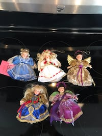Christmas doll ornaments
