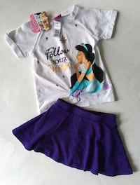 New With Tags Size 2 Disney Top & Children's Place Skirt