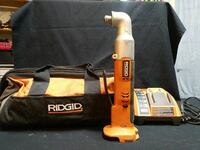 orange, black and gray Ridgid power tool