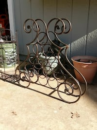 brown steel sleigh frame