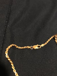 gold over silver chain  .925 italy Las Vegas, 89135
