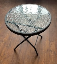 folding glass table - small