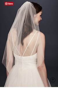 David's Bridal Elegant Single Tier Veil