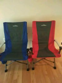 two blue and red camping chairs Alexandria, 22309
