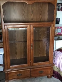 Brown wooden framed glass cabinet Norco, 92860