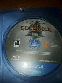 Sony PS4 God of War 3 remastered game disc Anderson, 29625