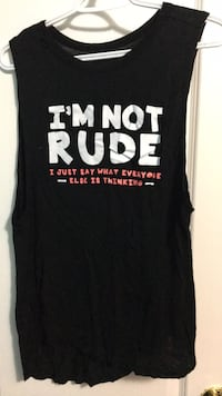 Black and white muscle tank size M Richmond Hill, L4S 3E5