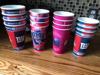 New York Giants plastic cups