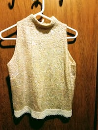Sequined Vintage Tank Top
