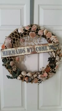 Beach Mermaid Seashell wreath Burbank, 91506