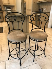 PAIR OF 2 STOOLS HIGH CHAIRS Côte-Saint-Luc