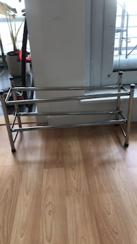 stainless steel frame glass top table Vancouver, V6B 1X7