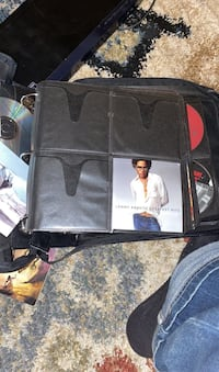 Cd case with cds and dvds