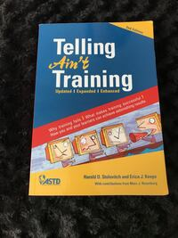 Textbook: Telling Ain't Training