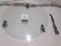 Round Glass Serving Platter Toronto