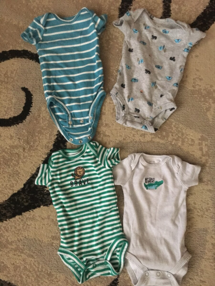 Used 3 months boy clothes from carters in Middle River