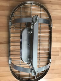 Stainless pot rack with pot lights In great confition Montréal, H2M 2T2