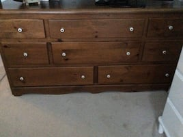 solid pine dresser and nite table