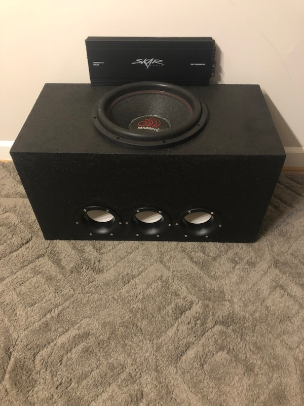 2000 watt rms 15 inch subwoofer and amp