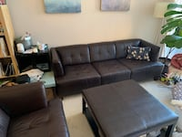 Couches + Ottoman dark brown leather Baltimore, 21231