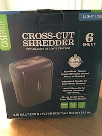 New 6-Sheet Cross Cut Paper Shredder Kissimmee, 34741