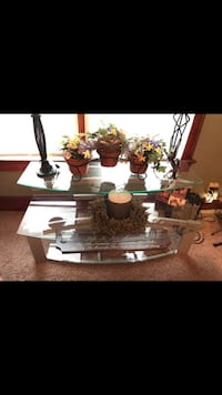 White and brown wooden table Franklin, 45005