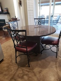 Granite table with 6 chairs moving sale must go  Bolton, L7E 1A2
