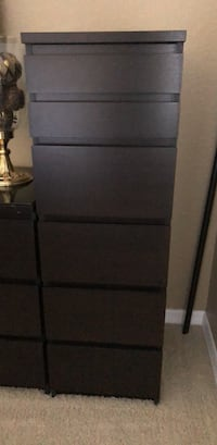 black wooden 4-drawer chest Riverview, 33569