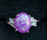 Sterling Silver Purple Fire Opal Ring Baltimore, 21224