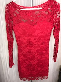 Women's Red Dress Laced