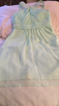 teenager/woman mint green chiffon dress size 4 Fresno, 93727