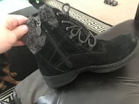 unpaired black and gray high-top sneakers Edmonton, T6W
