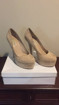 pair of gray suede platform stilettos Woodbridge, 22193