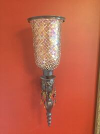 Sconces jeweled and tinted glass