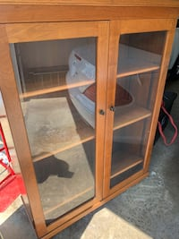 Wood and Glass Cabinet Gaithersburg, 20882