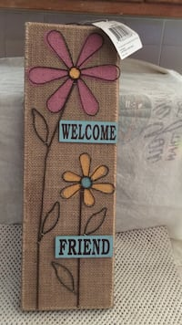 Burlap welcome sign Fresno, 93711