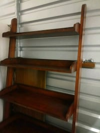 Solid mahogany shelves; 6ft tall