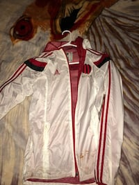 white and red Adidas zip-up jacket Markham, L6C 1R6