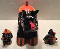 Halloween terrier cookie jar and S&P shakers Albuquerque, 87120