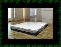 Single-sided pillowtop mattress with box all size McLean