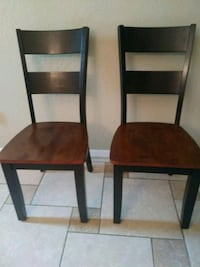 3 chairs. Real wood. Nice heavy chairs. Bought f