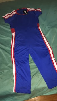 FashionNova jumpsuit blue red white  Columbus, 43205